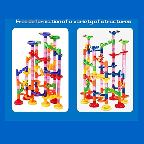 U.WILL Marble Run Toy - 105 Pcs Marble Game STEM Learning Toy, Educational Construction Building Blocks Toy, Marble Set Gift for Kids 4 5 6 + Year Old Boys Girls by U.WILL (Image #3)