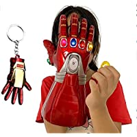 Iron-Man Infinity Gauntlet,6 Separable Magnet Infinity Stones Electronic Fist