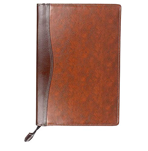 VIZMARK Leatherette Material Professional File Folders for Certificates, Documents Holder with 20 Leafs (Mix Brown Lether File)