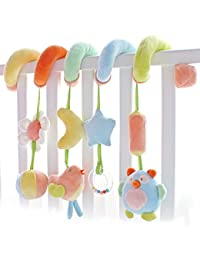 SHILOH Kid Activity Spiral Wrap Around Crib Bed Bassinet Stroller Rail Toy Developmental Plush Soft Toys BOBEBE Online Baby Store From New York to Miami and Los Angeles