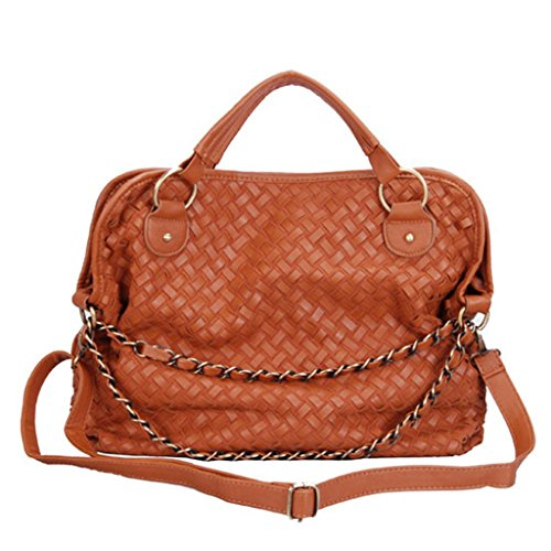 Ayliss® Women Hobo Weave PU leather Tote Shoulder Bag Casual - Cors Michael