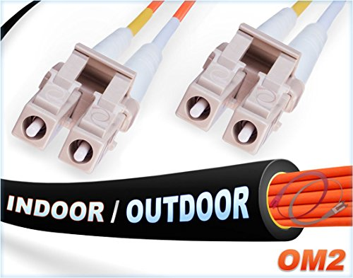 (FiberCablesDirect - 60M OM2 LC LC Fiber Patch Cable | Indoor/Outdoor 1G Duplex 50/125 LC to LC Multimode Jumper 60 Meter (196.85ft) | Length Options: 0.5M-300M | 1/10g lcupc sfp 1gbase ofnr om2-lc-lc )