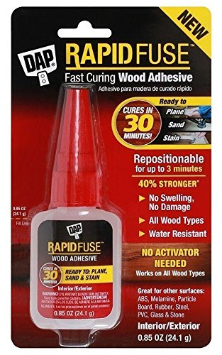 Dap Inc 00156 10 Pack 0.85 oz. Rapid Fuse Fast Curing Wood Adhesive, Clear by DAP (Image #2)