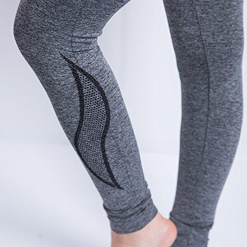 iLUGU Women Gym Yoga Patchwork Sports Running Fitness Leggings Pants Athletic Trouser(S,Black-35) by iLUGU (Image #3)
