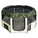 X-Large 57″ 2-Door Camo Pet Playpen Dog Puppy Soft Exercise Kennel Crate Cage XL