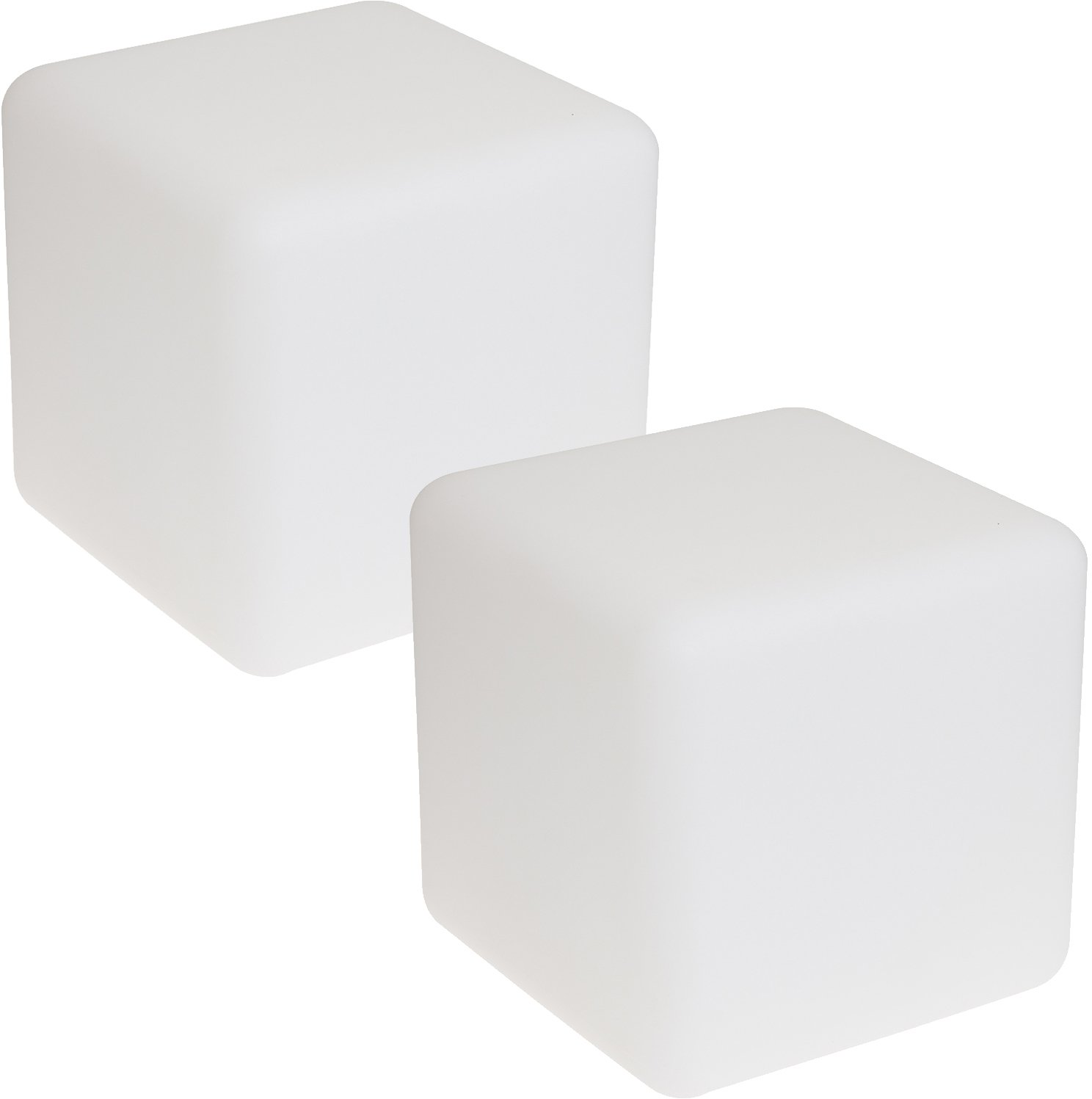GreenLighting White Color Changing 3W Floating LED Cube Light (300mm, 2 Pack) by GreenLighting