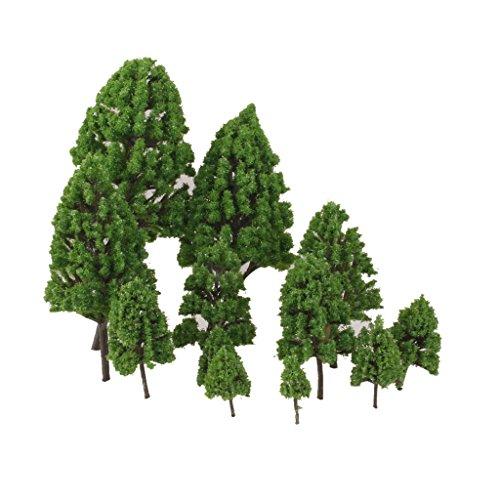 12pcs 1:50 Train Scenery Landscape Model Trees (Green) - 2