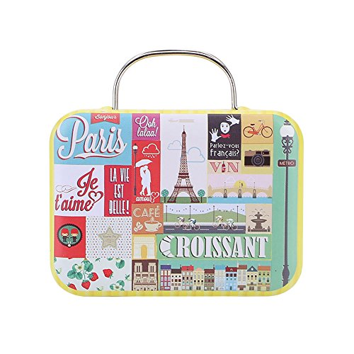 Kicode Retro Europe Mini Suitcase Candy Box Snack Vintage Storage Gift Case Sugar Coffee Tea (Snack Vintage)