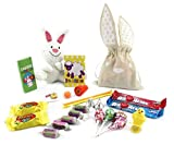 Easter Bunny Bag with Assorted Easter Candy and Easter Toys - Perfect for Easter Basket Treats and Filler (25 pieces)