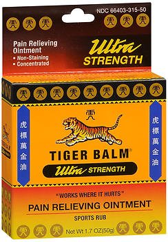 Tiger Balm Sport Rub Pain Relieving Ointment, Ultra Strength 1.70 oz (Pack of 2) (Ultra Strength Pain Relieving Cream)
