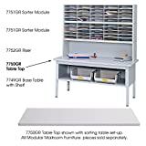 Safco 7750GR E-Z Sort Sorting Table Top Rectangular 60w x 30d Gray