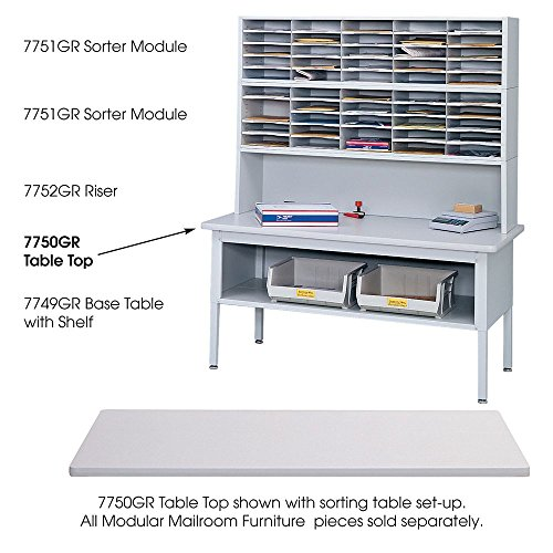 Safco 7750GR - E-Z Sort Sorting Table Top, Rectangular, 60w x 30d, Light Gray by Safco by Safco