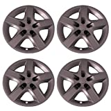 4 lug 17 inch rims set - Set of 4 Silver 17 Inch Aftermarket Replacement Hubcaps with Screw On Retention System - Part Number: IWC435/17S