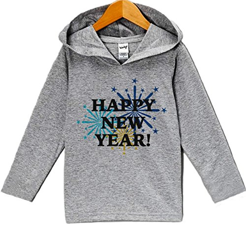Custom Party Shop Baby Boy's Happy New Years Eve Hoodie Pullover 24 Months Grey