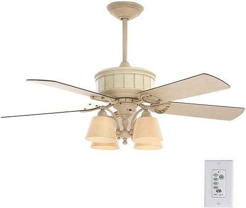 Hampton Bay Torrington 52 Inch Indoor Cottage Wood Ceiling Fan
