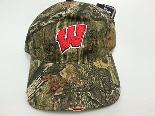 New Wisconsin Badgers Realtree Pre-Distressed Brim Camo Velcro Hat (Badgers Wisconsin Camo)