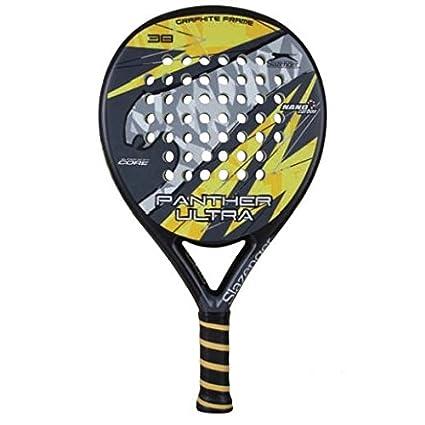 Slazenger Panther Ultra - Pala de pádel, color negro/amarillo / gris, 38 mm: Amazon.es: Deportes y aire libre