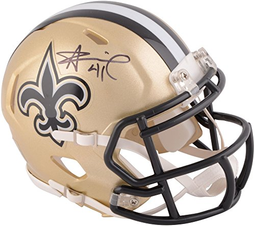 Alvin Kamara New Orleans Saints Autographed Riddell Speed Mini Helmet - Fanatics Authentic Certified from Sports Memorabilia