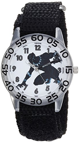 Marvel Boy's 'Avengers' Quartz Plastic and Nylon Casual Watch, Color:Black (Model: WMA000228)