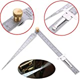 WILLAI 1pc Welding Taper Feeler Gauge Gage Stainless Steel Depth Ruler Hole Inspection For Measurement Tool