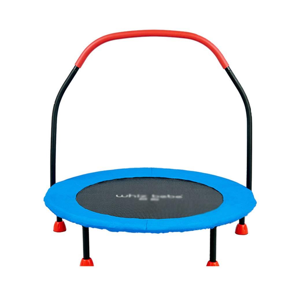 Gartentrampoline Trampolin Kinderhaushalts-Trampolin Indoor-Trampolin-Sprungbett Trampolin für Erwachsene (Farbe : Blau, Größe : 91.5  91.5  21cm)