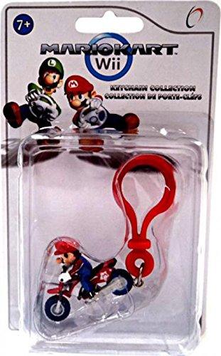 Mario Kart Wii Plastic Clip Keychain Mario on Motorcycle