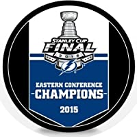 2015 Tampa Bay Lightning NHL Stanley Cup Eastern Conference Champions Hockey Puck (Sherwood)