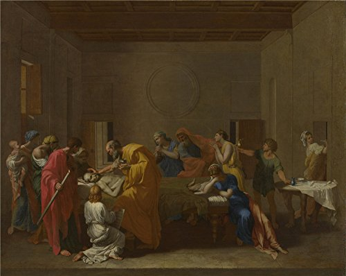 Oil Painting 'Nicolas Poussin Extreme Unction ' Printing On Polyster Canvas , 16 X 20 Inch / 41 X 51 Cm ,the Best Nursery Decoration And Home Gallery Art And Gifts Is This Beautiful Art Decorative Prints On Canvas
