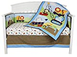 Under Construction 4 Piece Baby Crib Bedding Set with Bumper by Riegel Reviews