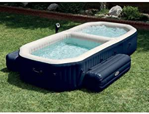 Spa hinchable Intex Pure Spa Plus con piscina a burbujas ...
