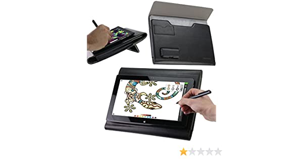 Broonel Luxury Leather Graphics Tablet Case with Built-in Ergonomic Stand Compatible with The Wacom Cintiq 16 Drawing Tablet