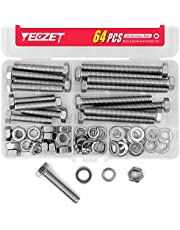YEEZET Heavy Duty Bolts and Nuts Assortment Kit, 304 Stainless Steel, Metric
