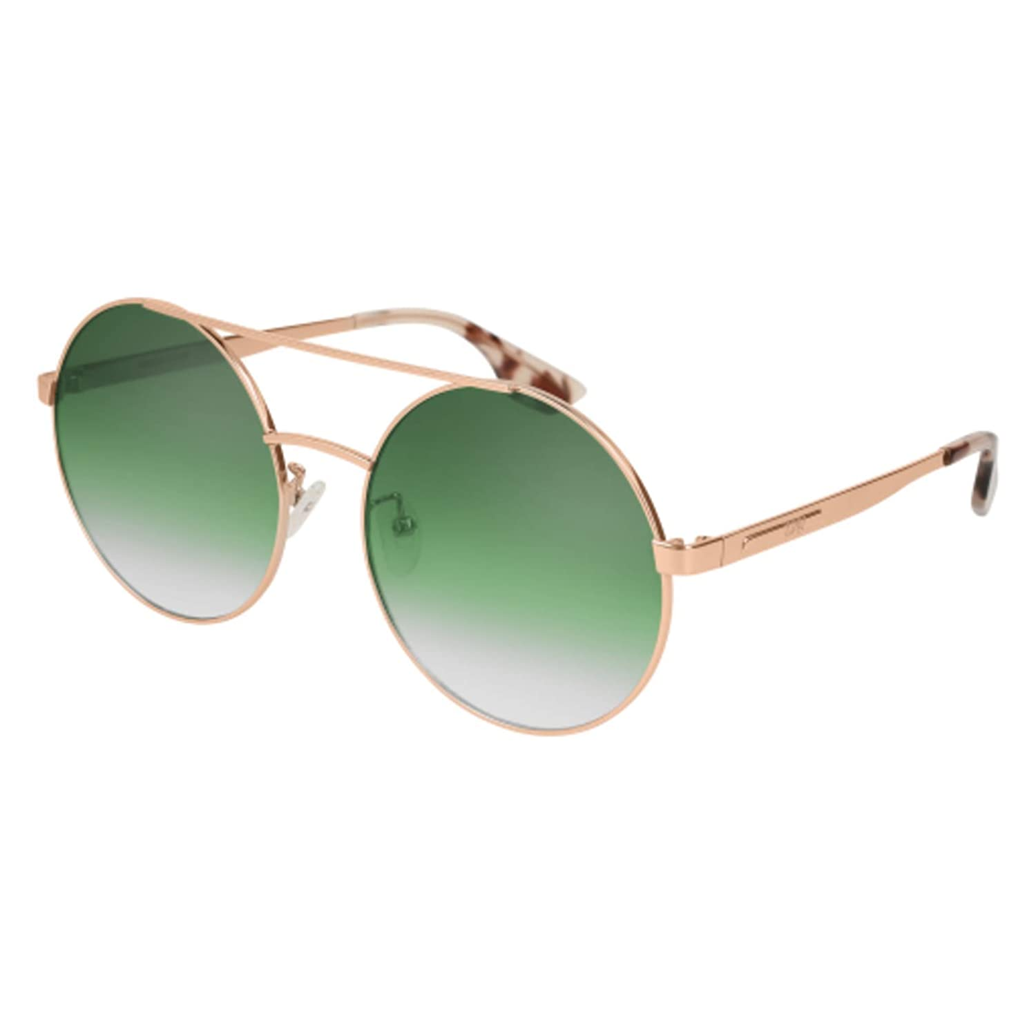 93bc7d35b4 Sunglasses Alexander McQueen MQ 0092 S- 005 GOLD SILVER at Amazon Men s  Clothing store