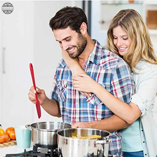 Scraper Spatula Set 2020 Heat Resistant Kitchen Cooking Utensils Food Grade Silicone Baking Spatulas One Piece Design Spoon Non-Stick Spatula Kitchen Scraper Set of 4
