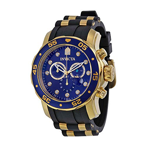 (Invicta Men's 17882 Pro Diver 18k Gold Ion-Plated Stainless Steel)