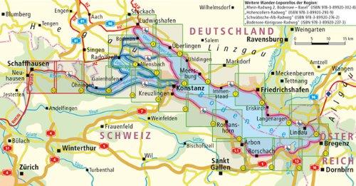 Bodensee Radweg Leporello Radtourenkarte Mit Ausflugszielen