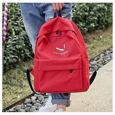 e0aad9227a32 best LHWBA Women Backpack Canvas All Seasons Casual Round Zipper Blushing  Pink Red Blue