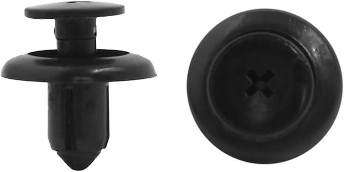 Sourcingmap 20x 8mm Bohrung Plastik Nieten Verschluss Fender Vortrieb Clip Schwarz Für Auto De Auto
