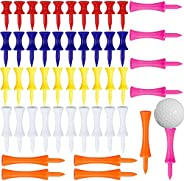 50 PCS Castle Golf Tees Tall Long Short Plastic Golf Tees Mixed Size Step Down Golf Tees Unbreakable Golfing T