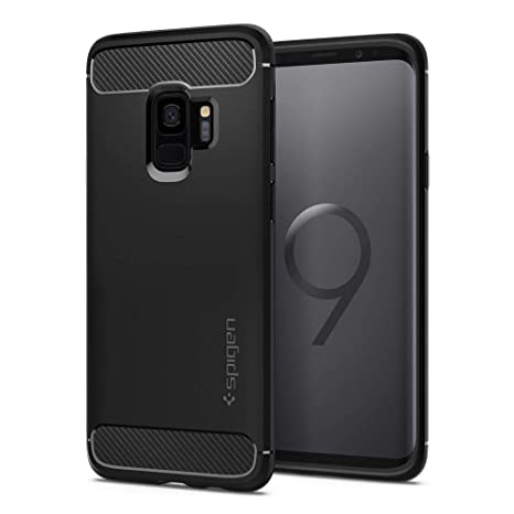 Spigen Rugged Armor Designed for Samsung Galaxy S9 Case (2018) - Matte Black