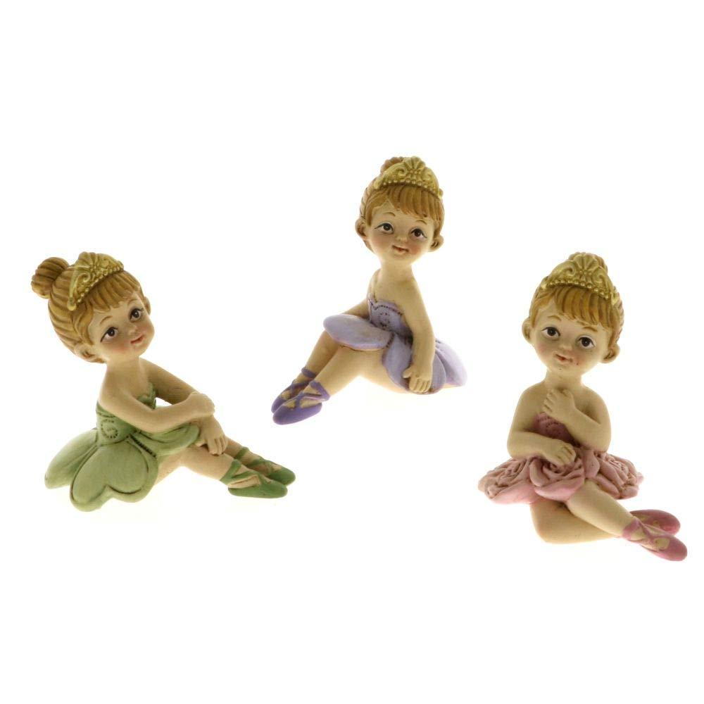 Publilancio srl 6 PZ Spring Ballet Ballerina Seduta 6 cm in Resina BOMBONIERA