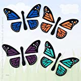 Design Ideas GelGems Window Clings, Colorful Monarchs, Large Bag