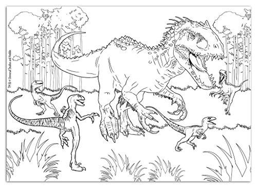 Lisciani Puzzle 108 Pezzi Maxi Jurassic Fury Con Retro Da Colorare