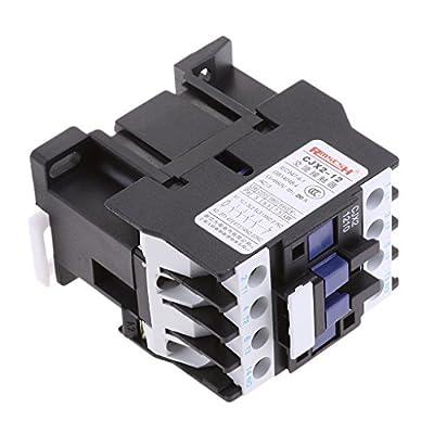 Jili Online CJX2-1210 AC Contactor Motor Starter Relay 220V Coil Voltage Circuit Control 3 Poles NO