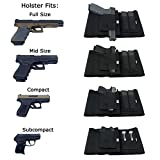 GVN-Adjustable-Elastic-Concealment-Belly-Band-Holster-Tactical-Abdominal-Belt-Holster-for-Concealed-Carry-With-Dual-Magazine-Pouches-Fits-Glock-Ruger-LCP-MP-Sig-Sauer-Ruger-Kahr-Beretta-1911