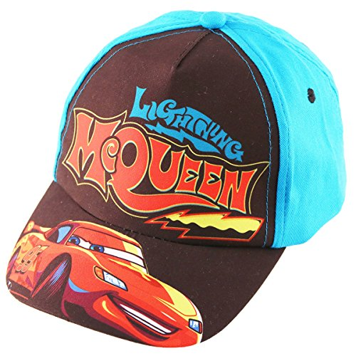 Disney Toddler Boys Cars Lightning McQueen Baseball Cap, Age 2-5 (Lightning Mcqueen Cap)