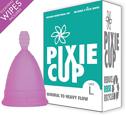 Ranked 1 for Most Comfortable Menstrual Cup and Better Removal Stem Than All Other Brands - Every Cup Purchased One is Given to a Woman in Need! (Large) by Pixie Menstrual Cup