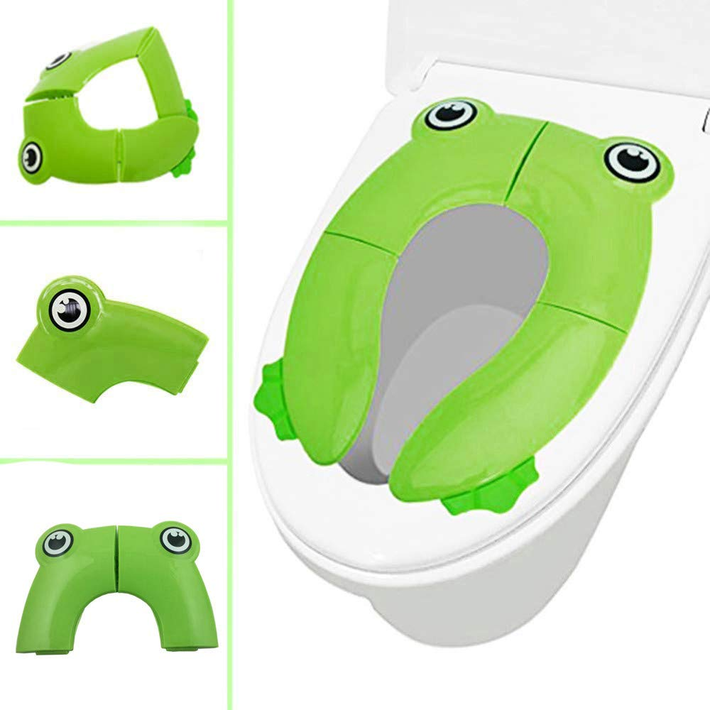 TAOtTAO Pliable Pot Ré ducteur de WC de Voyage pour bé bé Potty Housses de siè ge antidé rapant Coussinets B 25x35cm