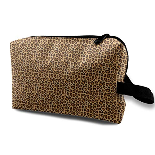 Leopard Pattern For Halloween Costume Travel Makeup Cute Cosmetic Case Organizer Portable Storage Bag for Women