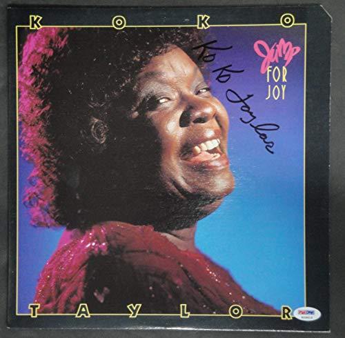 (Koko Taylor Hand Signed Vintage Autographed Record Album Jump For Joy PSA K29415)
